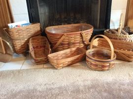 Longaberger baskets and others...