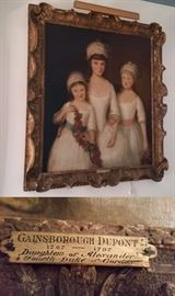 Gainsborough Dupont painting of daughters of the 4th Duke of Gordon
