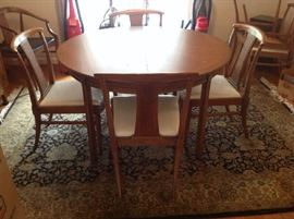 Mid Century dining table / 6 chairs $ 360.00