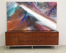 "Knoll Credenza (74 1/2"" w), Oil on Canvas by Nora Mendoza"