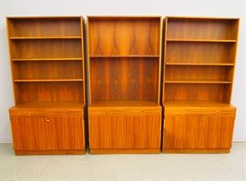 Teak Bookcases by Bodafors designed by B. Fridhagen