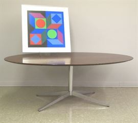 Knoll Table, Victor Vaserely Litho
