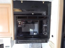 Microwave above the stove