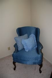 1 OF 2 WINGBACK CHAIRS