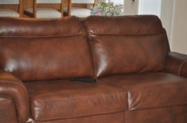 LEATHER SOFA (THEY ARE THE SAME COLOR - JUST SHOWING DIFFERENT IN THE PHOTOS)