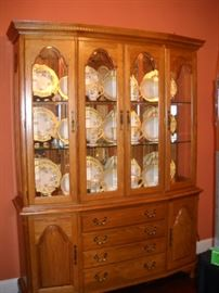 Cochrane china cabinet with specialty lighting