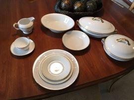 Very pretty set of Czechoslovakian bone china.  Service for 12