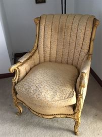 French provincial arm chair with down cushions