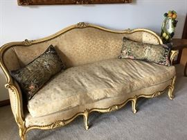 French provincial sofa with down cushions