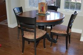 Kitchen table and chairs (leaf included though not photographed)