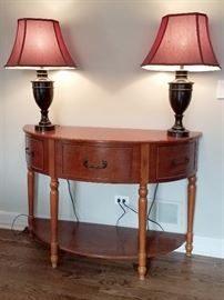 Half round entry table