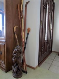 Large selection of walking sticks & canes