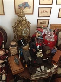 Clocks, Dolls, and more