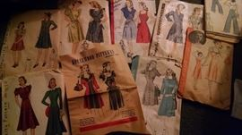 VINTAGE SEWING PATTERNS...20S/30S/40S
