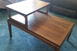 Lane Alta Vista end tables with custom glass protective tops
