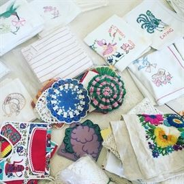 hand-stitched linens