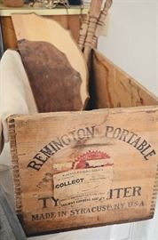 Wooden Remington portable Typewriter box