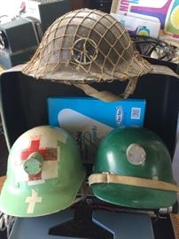 Cool authentic helmets and hardhats
