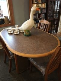 Nice new dining table - and glow goose