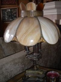 Antique Tiffany Lamp with marble base