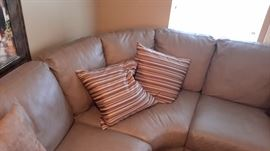 Natuzzi Italian Leather Sectional - Excellent condition, like new, barely used.