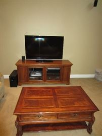 Walter E. Smith Tv stand and Coffee table. Tv stand -$295. Coffee Table