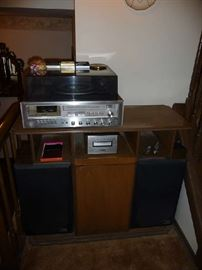 PIONEER STEREO-SPEAKERS, RECORD PLAYER, 8-TRACK PLAYER