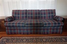 Sofa (Plaid Upholstery)