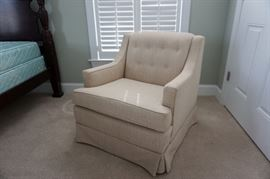 Club Chair (Cream Upholstery)