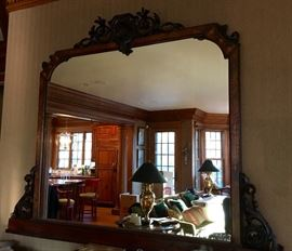 Antique Carved Wood Mirror  66x48