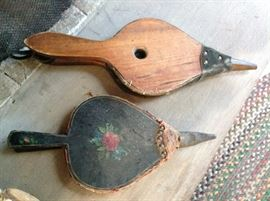 Antique hand painted bellows
