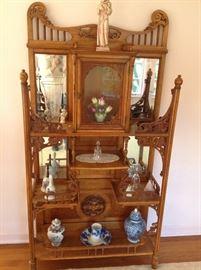 Exquisite carved antique cabinet