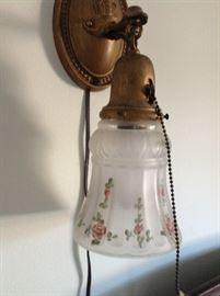 Beautiful hand painted brass lamp