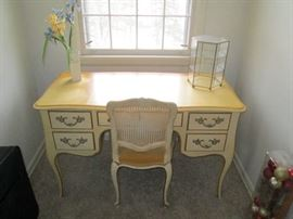 KINDEL GRAND RAPIDS MICHIGAN DESK AND CHAIR FRENCH PROVINCIAL