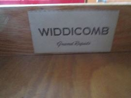 TAG INSIDE WIDDICOMB DRESSER