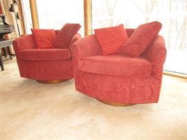 Selig Monroe Club Chairs