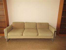 Milo Baughman Sofa original wood upholstery