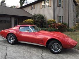 1974 Corvette Stingray  T-Tops 4 speed manual transmission 350 cc engine  Approximately 64000 miles