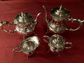 Sterling Tea Pot, Coffee Pot, Cream And Sugar