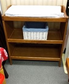 LOVELY OAK STORAGE TABLE OR CHANGING TABLE!