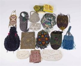 Lot 9: Group Lot of Vintage Beaded Bags