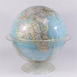 "Lot 7: ""National Geographic Society"" World Globe"