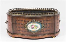 Lot 18: French 19th Century Parquetry Jardiniere