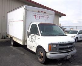 1999 Chevrolet Express Box Truck / Van with Cutaway, 142,842 Miles, V8, VIN # 1GBJG31R7X1022777