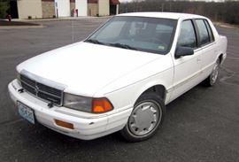 1991 Dodge Spirit Passenger Car, 89,963 Miles, VIN # 3B3XA46K2MT608690