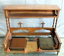 "Double / Wedding Kneeler Prayer Bench with Cushions, 41.5"" x 31.5"" x 24"""