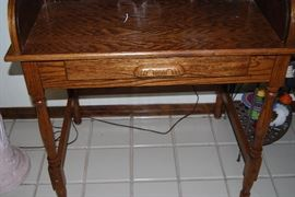 Small Oak Roll Top Writing Desk