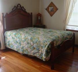 Victorian Walnut Bed