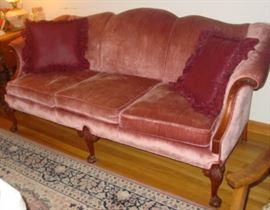 Sofa w/Claw & Ball Feet
