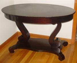 Empire Mahogany Library Table